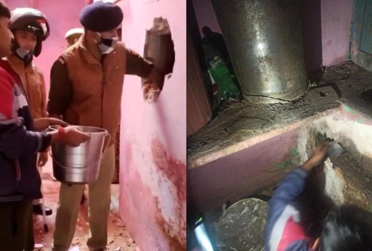Police Busted Raw Liquor Factory In The House In Agra – पुलिस ने मकान में मारा छापा, गंध आने पर दीवार तोड़ी तो दंग रह गई, सामने आया यह सच