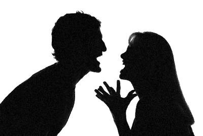 Couple-Fight Bw