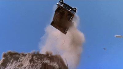 Car Flying Off Cliff