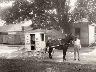 Rural Free Delivery Carrier And Wagon