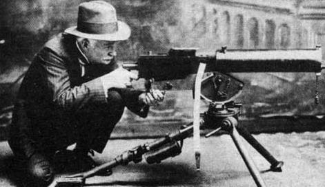 when were machine guns invented