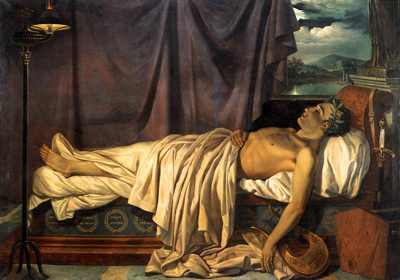 Lord-Byron-On-His-Death-Bed