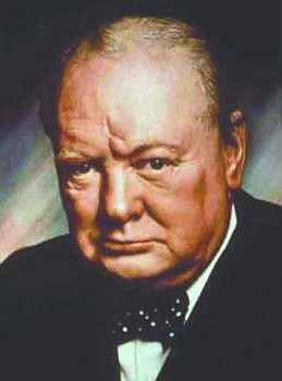 Potrait Of Sir Winston Churchill