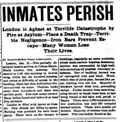 Colney Hatch Lunatic Asylum