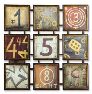 Lucky Numbers Abstract Wall Art
