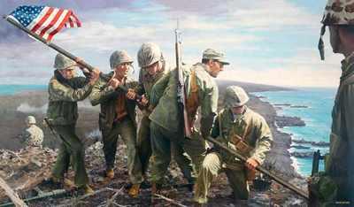B Iwo Jima The First Flag