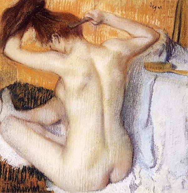 Degas Edgar Woman Combing Her Hair