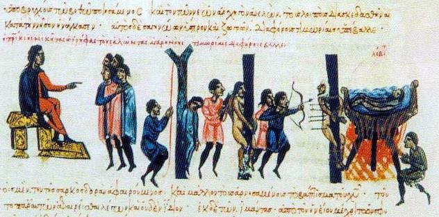 Romans_(Niketas_Oryphas)_punish_Cretan_Saracens