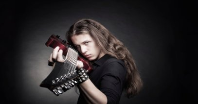 Heavy metal guitarist