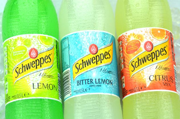 Bottles of Schweppes