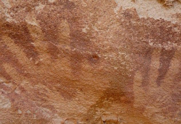Cave of Beasts Handprints