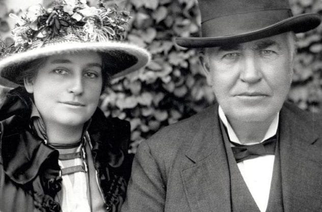 Thomas Edison and Mina Miller