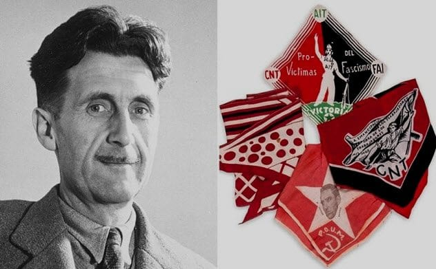 10a-orwell-and-bloodied-scarf-he-wore-when-shot