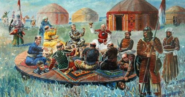 9-mongols-feasting-atop-russian-princes
