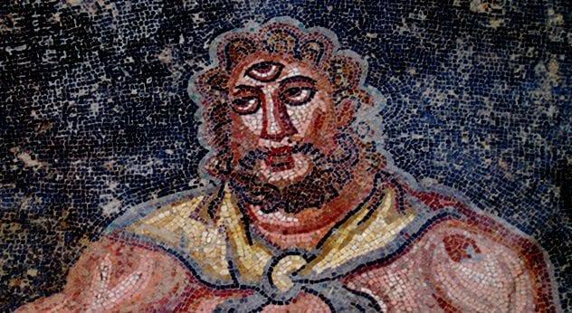 roman mosaic cyclops