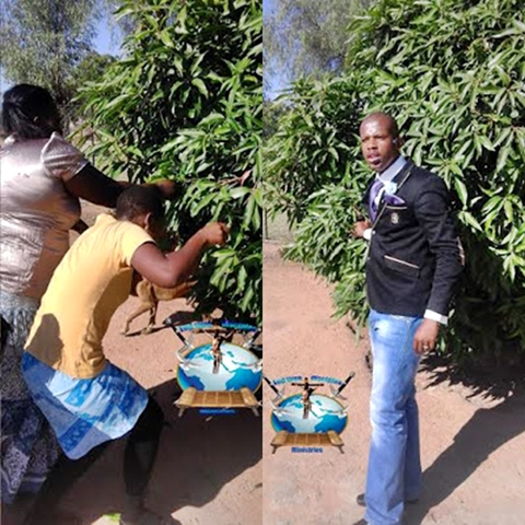 South african Pastor orders church members to eat grass