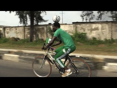 Image result for Farthest distance covered by bicycle while balancing a ball