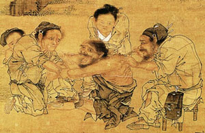 Ancient chinese doctors treatment for diarrheas