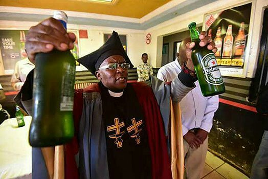 This Church In South Africa Baptize Members With Their Favourite Booze