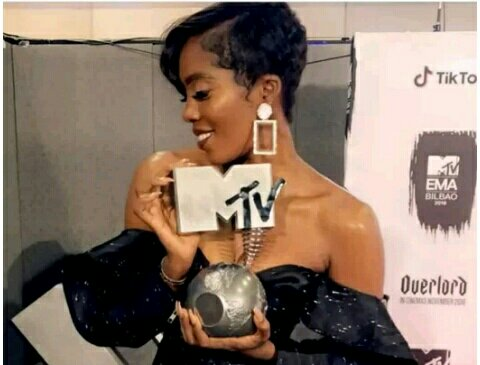 Tiwa Savage Becomes First African Female to Win an MTV EMA Award