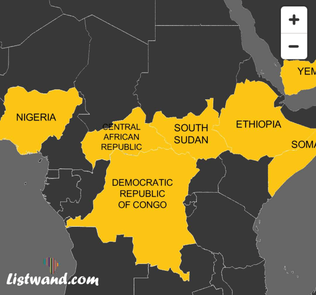 Nigeria Among Top 10 Countries Most At Risk Of Humanitarian Catastrophe In 2019