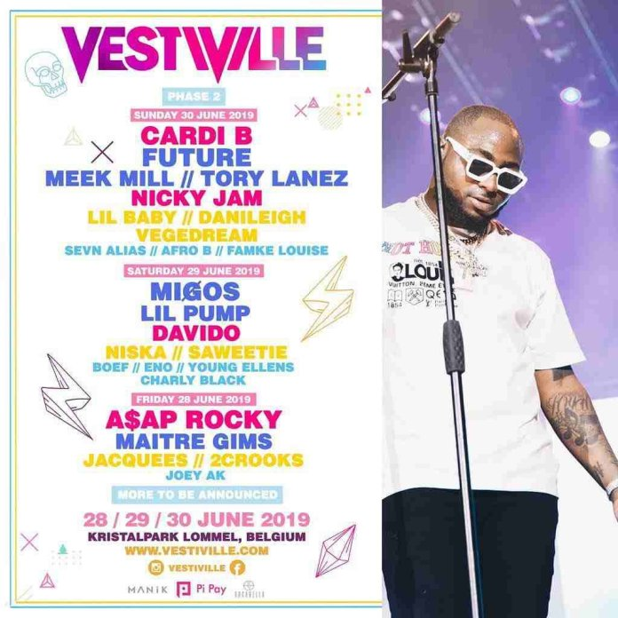 Davido, Cardi B, Meek Mill And More To Perform At The 2019 Vestiville Festival