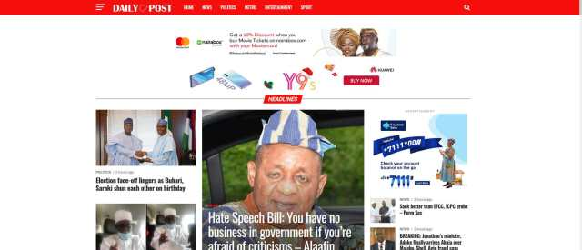 Dailypost is the 4th most Visited Website in Nigeria
