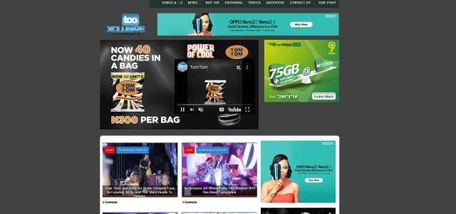 Tooxclusive is the most Visited music download website in Nigeria