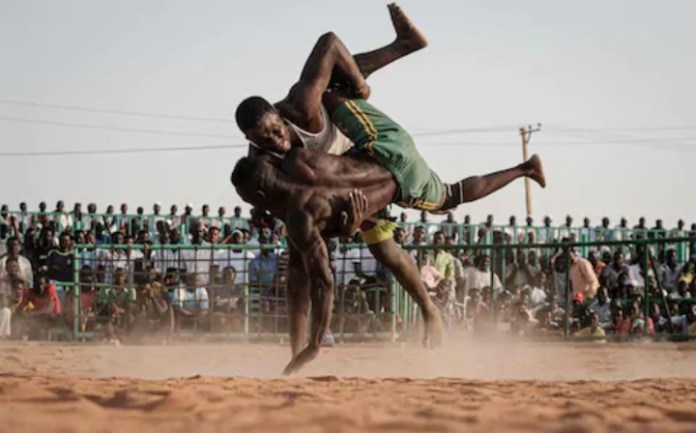 Nuba Wrestling in Sudan