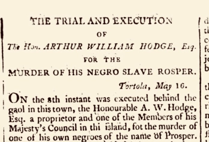 Meet Arthur William Hodge: The Slave Owner Who Murdered His Slave