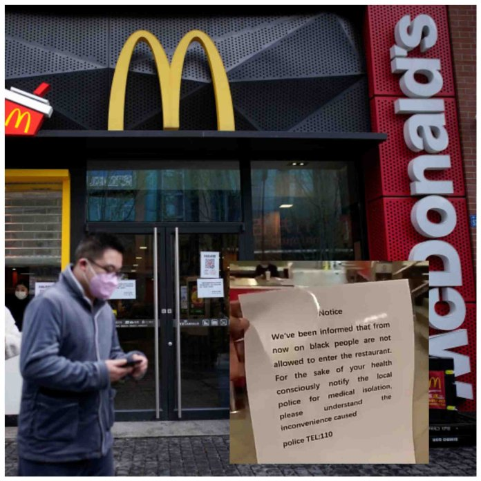 McDonald's Apologizes for Banning Black People from its China Branch