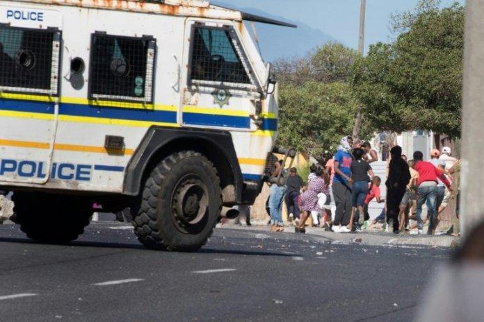 'We Want Food', Hungry South Africans Chant as they Clash With Police Over Food