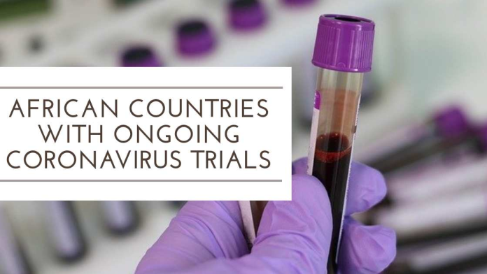 African Countries with Ongoing Coronavirus Trials