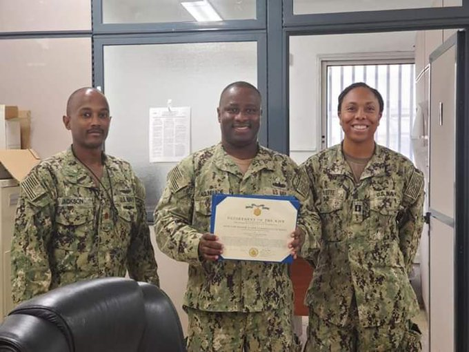 Nigerian Receives Medal of Commendation from US Navy for His Meritorious service