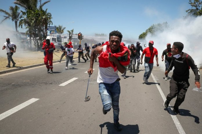 Anti-racism Protest in South Africa Over Whites-only School Party