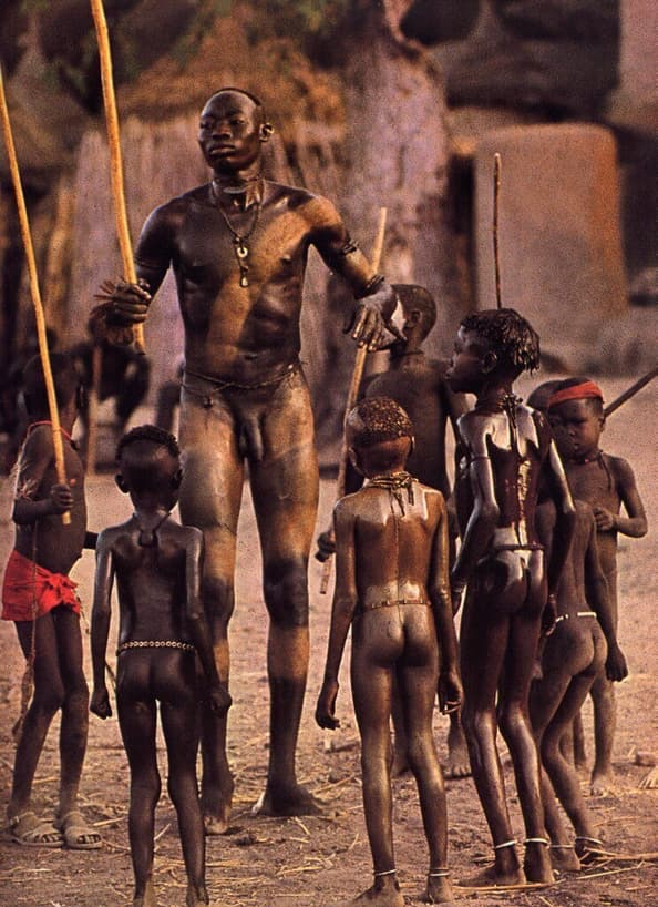 People of the Nuba Tribe: Astonishing Images of the Nuba Peoples of Sudan taken in the 70's