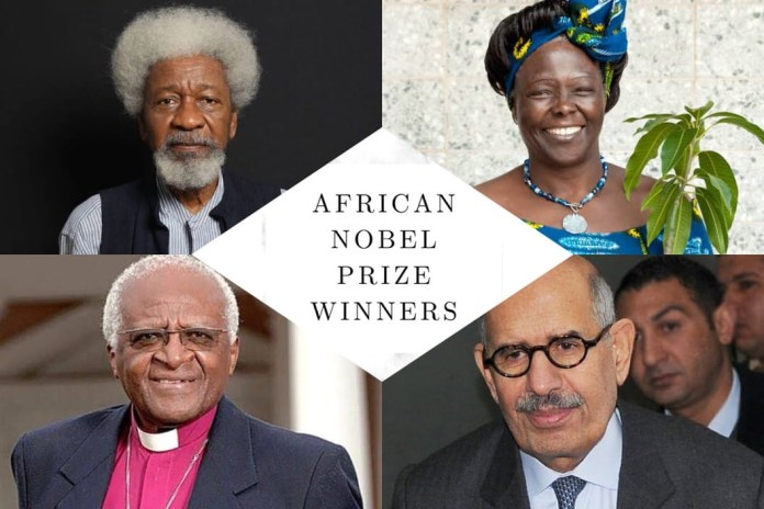 African Nobel Prize Winners By Country