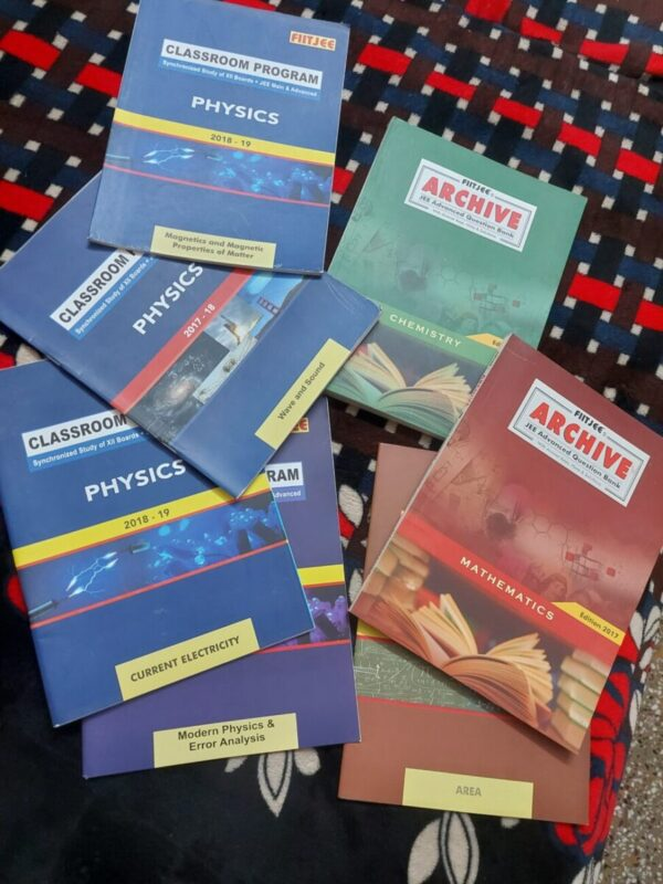 Entrance prepration books(FIITJEE 2 YEAR Package) with notes.