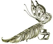 Перо-бабочка-лого-мини