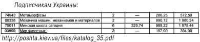 подписка на 2-ое полугодие 2015 Украина, Мир Животных и Метаморфозы