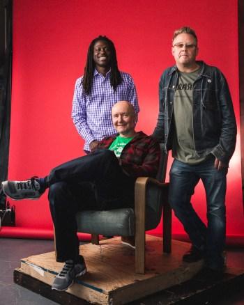 Roger Reeves, Irvine Welsh and Sam Weller/Photo: Joe Mazza/Brave Lux