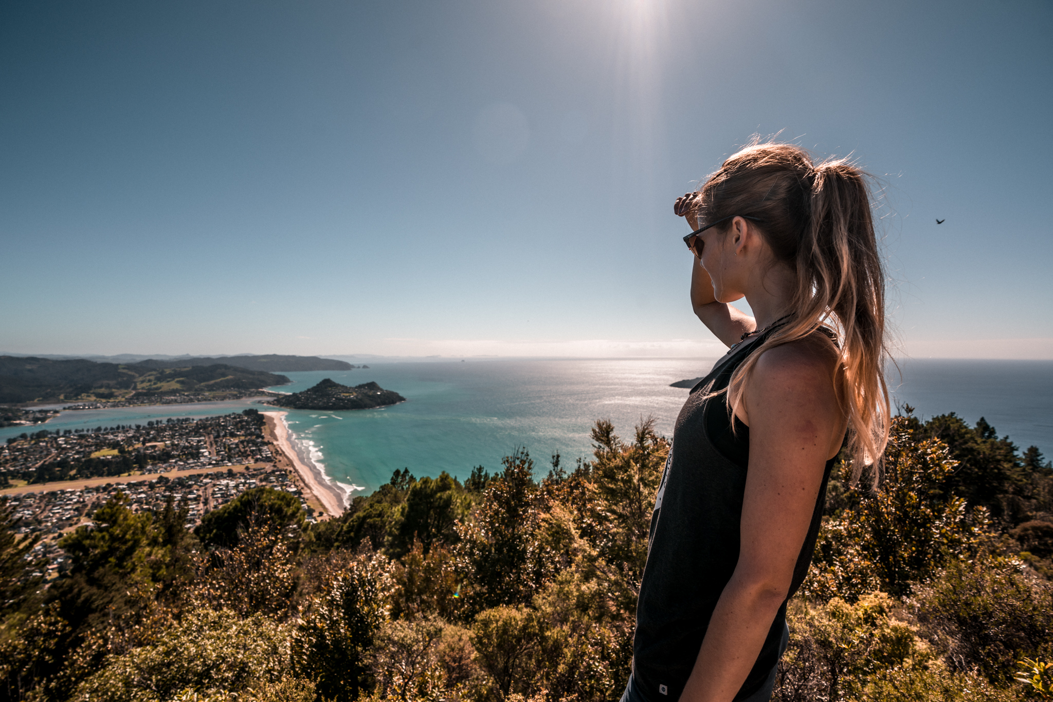 Pauanui hill Tairua beach view