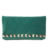 A Wear- Green Stud Detail foldover £22.50