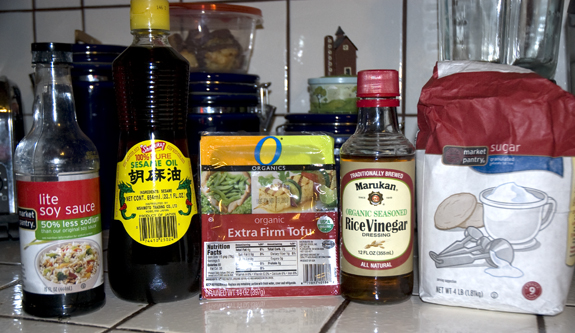 soy glazed tofu ingredients