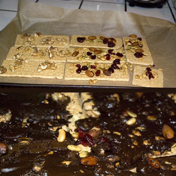 graham crackers nuts chocolates