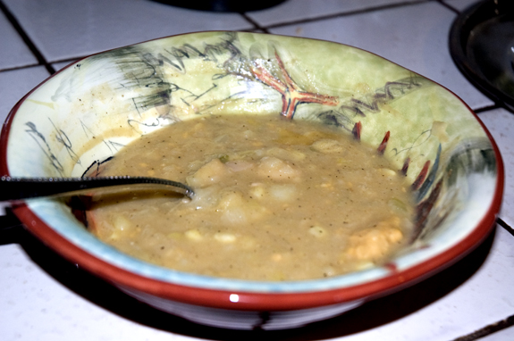 bowl of potato soup