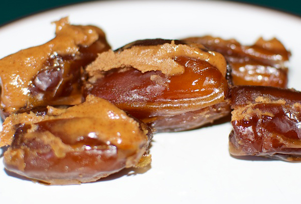dates filled with almond butter