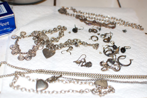 tarnished silver jewelry