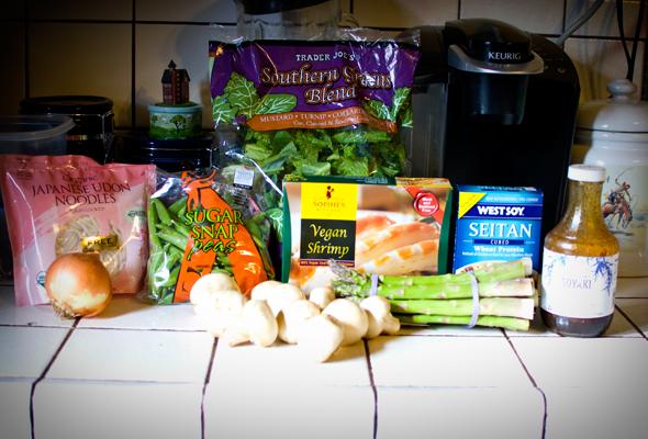 vegan stir-fry ingredients