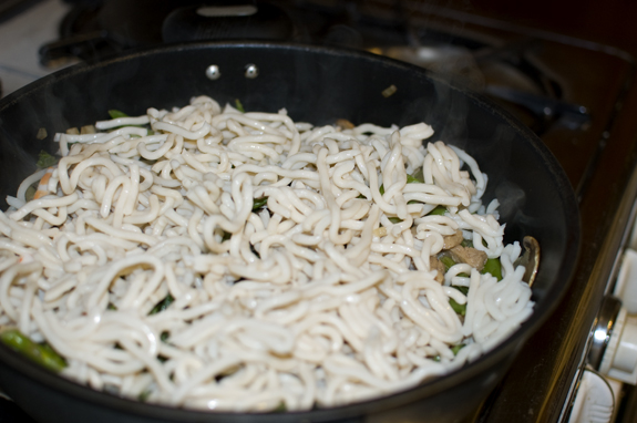 Japanese Udon Noodles added